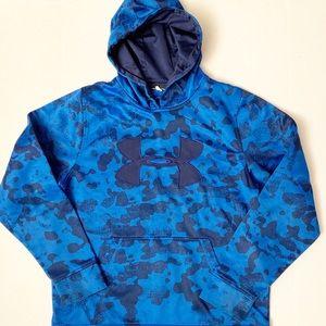 Under Armour Hoodie Blue Loose Fit Medium